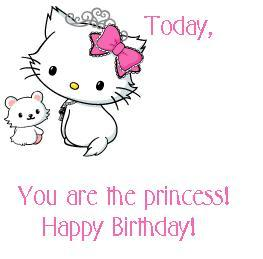 Today You Are The Princess Happy Birthday Happy