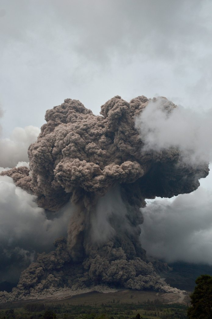 Mount Sinabung Volcano Erupts In Indonesia Displaces 20 000