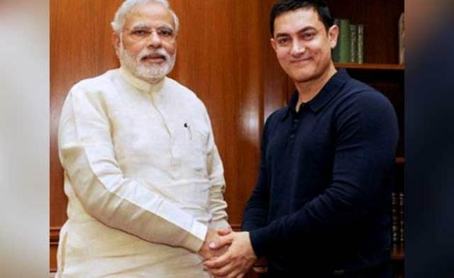 'मेक इन इंडिया वीक प्रोग्राम' में आमिर खान और पीएम मोदी के बीच हुई मुलाकात