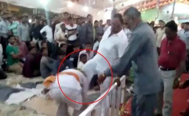 बुजुर्ग को पैर से मारने वाले बीजेपी सांसद रादड़िया ने इसे बताया 'मामूली घटना'