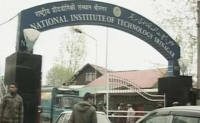 श्रीनगर एनआईटी में तनाव कायम, केंद्रीय मंत्री ने किया ट्वीट, मामले को देखेगा एचआरडी मंत्रालय