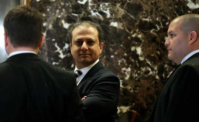 Image result for photos of preet bharara and trump