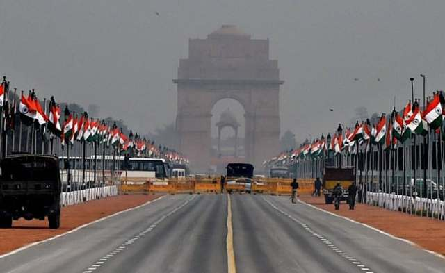 india gate on republic day