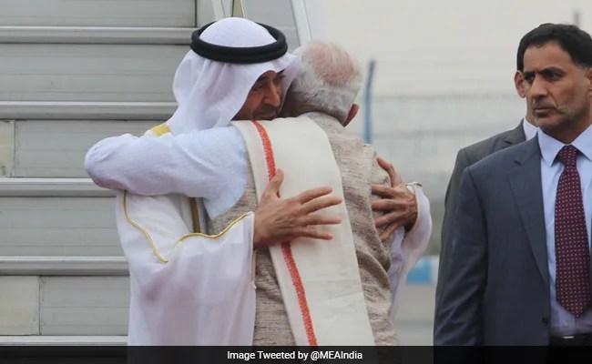 Republic Day: PM Narendra Modi Receives Chief Guest Crown Prince Of Abu Dhabi In Delhi