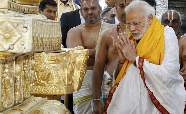 PM Narendra Modi Offers Prayers At Lord Venkateswara Temple Near Tirumala