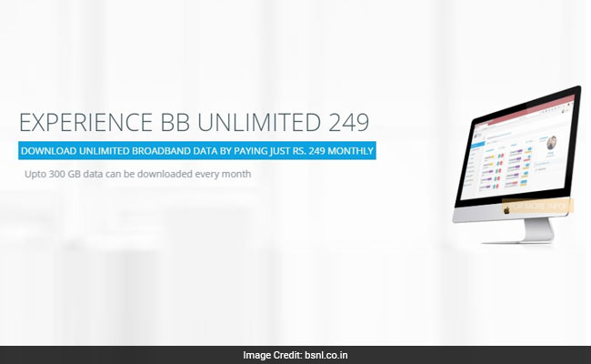 bsnl rs 249 unlimited 650 400