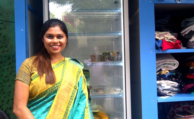 Anyone Can Eat Anything They Like From This Woman's Fridge, For Free