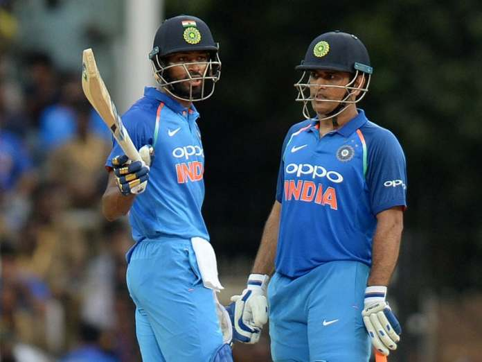 Image result for pandya and dhoni