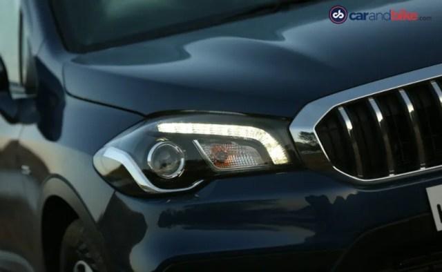 maruti suzuki's new s-cross facelift headlamps