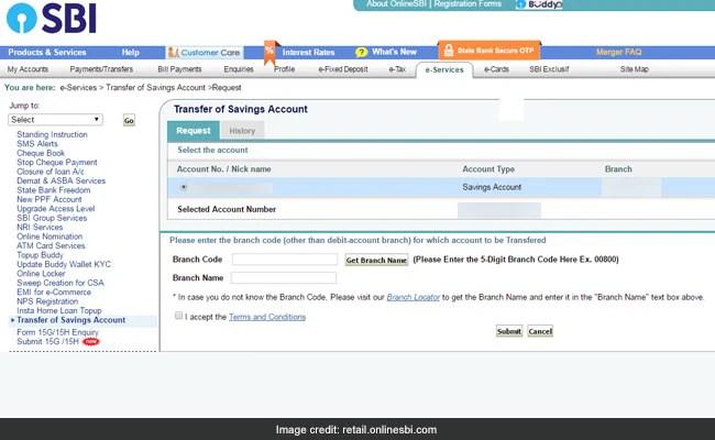 sbi account transfer 2