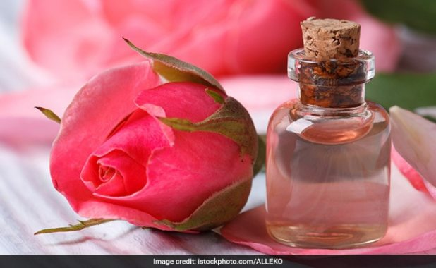 rose water acts as a natural astringent
