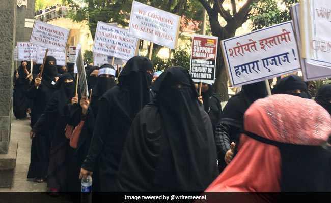 मुंबई : तीन तलाक बिल के विरोध में हजारों मुस्लिम महिलाओं ने निकाला मोर्चा