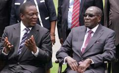 Image result for Mugabe swears in Mnangagwa replacement to Justice ministry