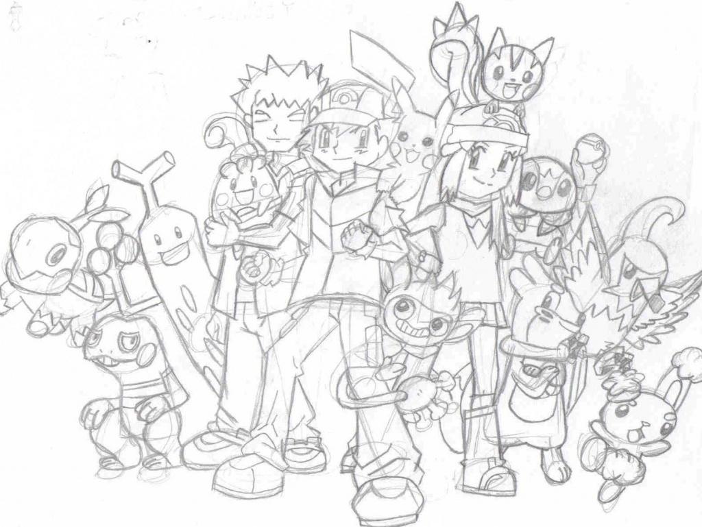 Ash Amp Friends Pokemon Fanart