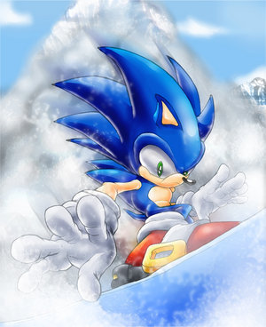 Sonic On A Snowboard From Amethyst10 Hosted By Neoseeker