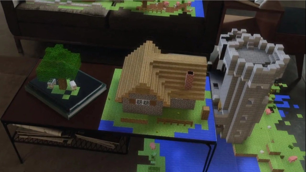 E3 2015 Microsofts Minecraft AR Demo Makes Hololens Seem