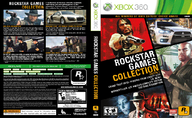 Rockstar Games Collection Edition 1 Outed For PlayStation 3 Xbox 360 Neoseeker