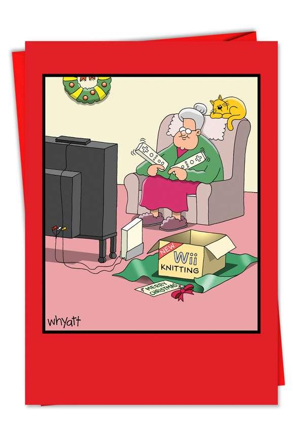 Wii Christmas Humor Christmas Card Nobleworks Cards