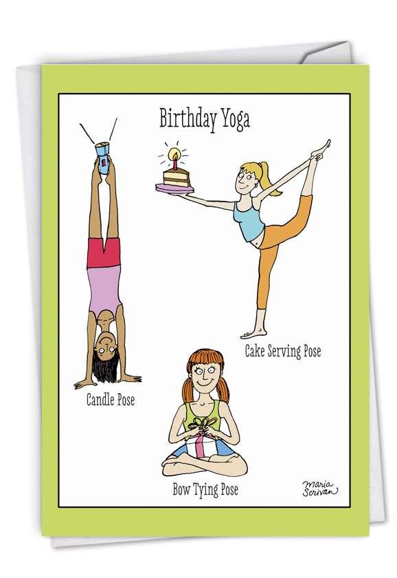Birthday Yoga Posing Exercise Cartoons Birthday Greeting Card Scrivan