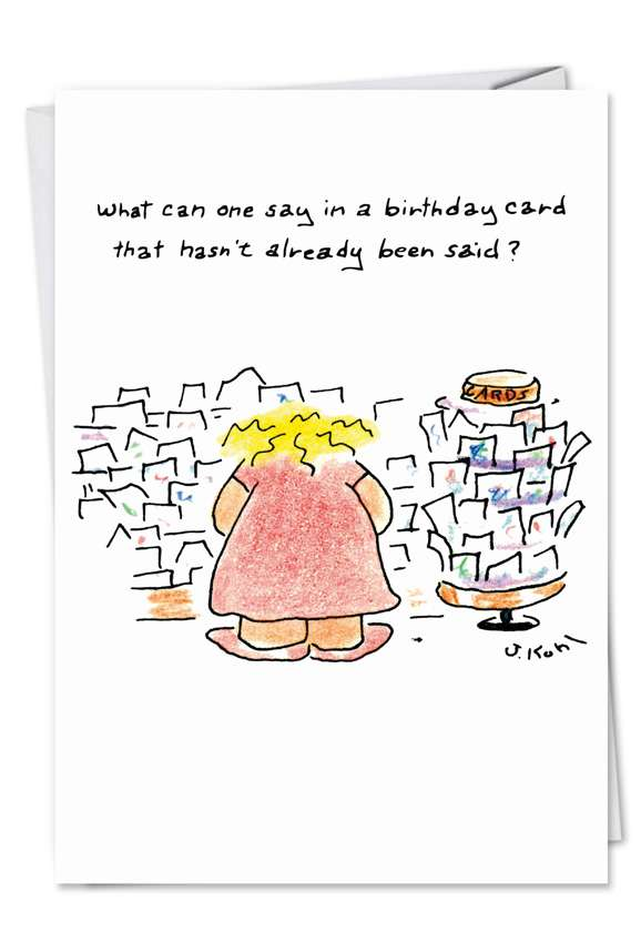 Birthday New Year Humorous Birthday Paper Card