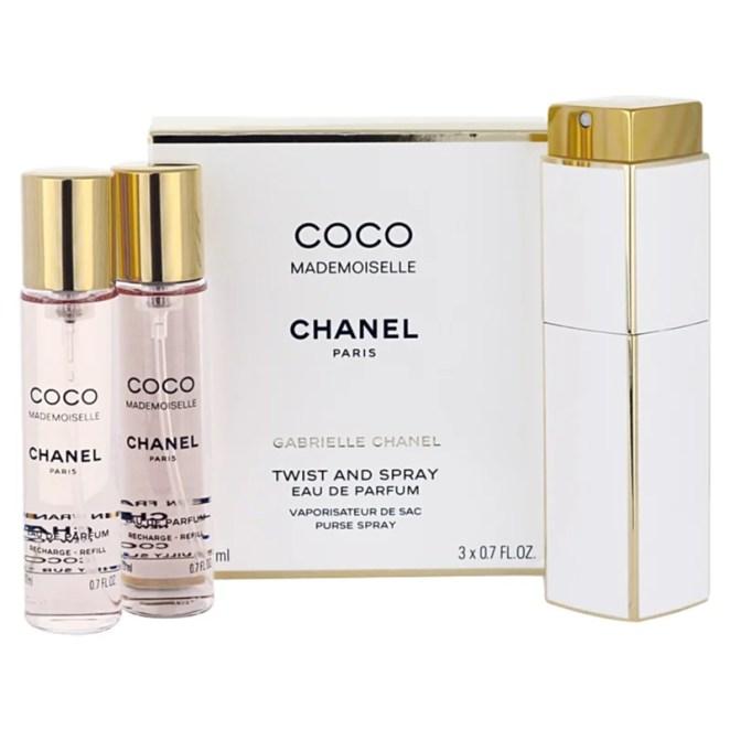 Chanel Coco Mademoiselle parfémovaná voda (1x plnitelná + 2x náplň) pro ženy 3x20 ml