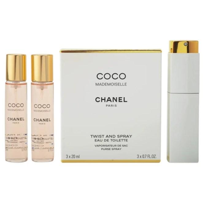 Chanel Coco Mademoiselle toaletní voda (1x plnitelná + 2x náplň) pro ženy 3x20 ml