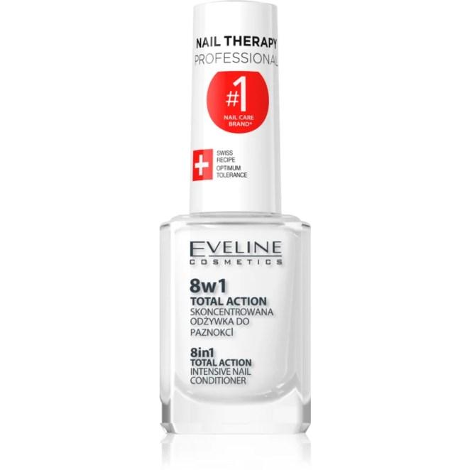 Eveline Cosmetics Nail Therapy kondicionér na nehty 8 v 1 inovovaná verze neobsahuje formaldehyd 12 ml