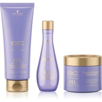Schwarzkopf Professional BC Bonacure Oil Miracle Barbary Fig Oil set cosmetice (pentru par foarte uscat si deteriorat) pentru femei
