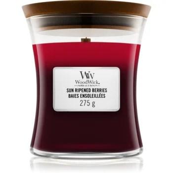 Woodwick Trilogy Sun Ripened Berries lumânare parfumată cu fitil din lemn