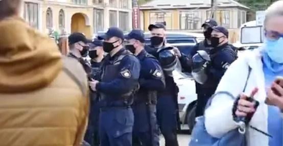 Блокування автопробігу Шарія в Одесі