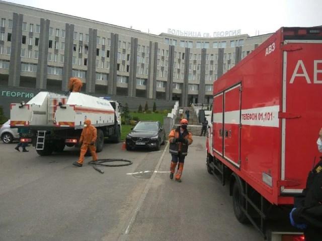 Пожар в больнице Святого Георгия
