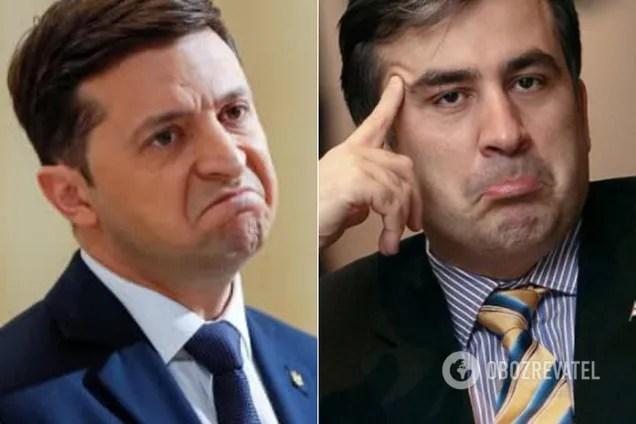 Зеленский и Саакашвили