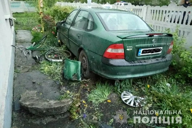 На Вінниччині п'яна жінка збила матір з малолітніми дітьми, знесла навіть паркан