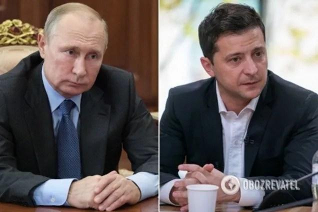 Владимир Путин и Владимир Зеленский