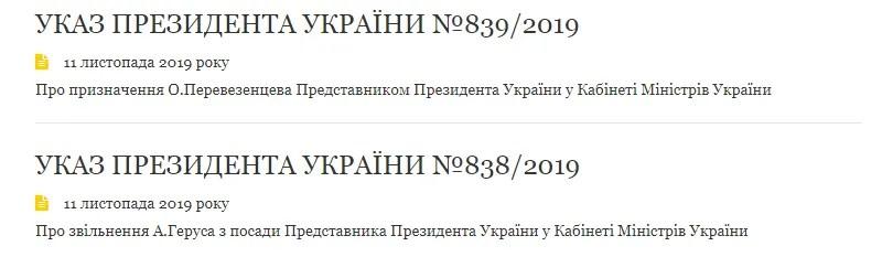 Укази президента