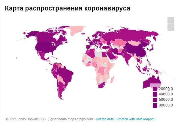 Коронавірус перекочував до ЄС: дані щодо України та світу на 25 березня. Оновлюється