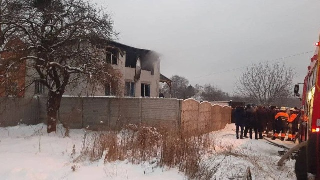 Сгоревший дом престарелых в Харькове
