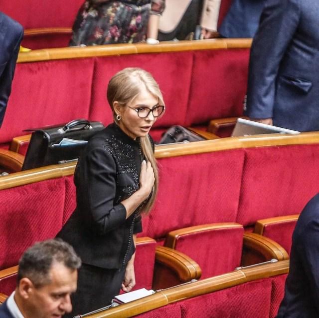 Юлія Тимошенко в чорному вбранні