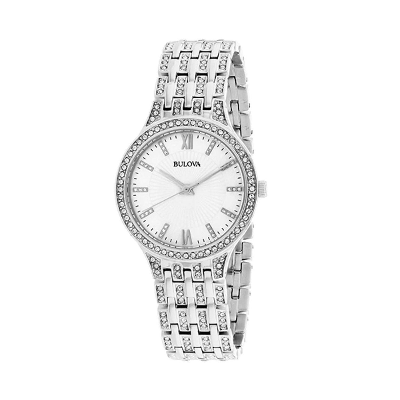 Bulova 96l242 Womens Crystals Collection Silver Quartz Watch