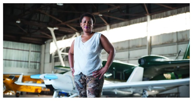 She didn't know she was the first black woman pilot in South Africa but now she's helping girls pursue their dreams in the industry