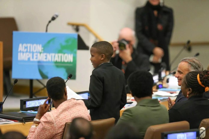 12-Year-Old Kenyan Lamaiyan With HIV Moment Of Fame In New York