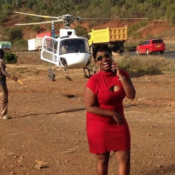 Luo woman leaves Kenyans jealous after hiring a chopper