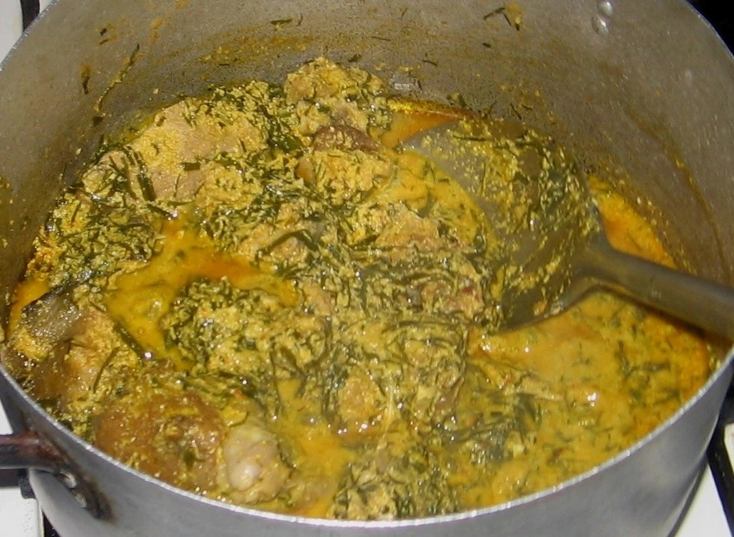 How To Cook Egusi Soup With Okazi Leaves
