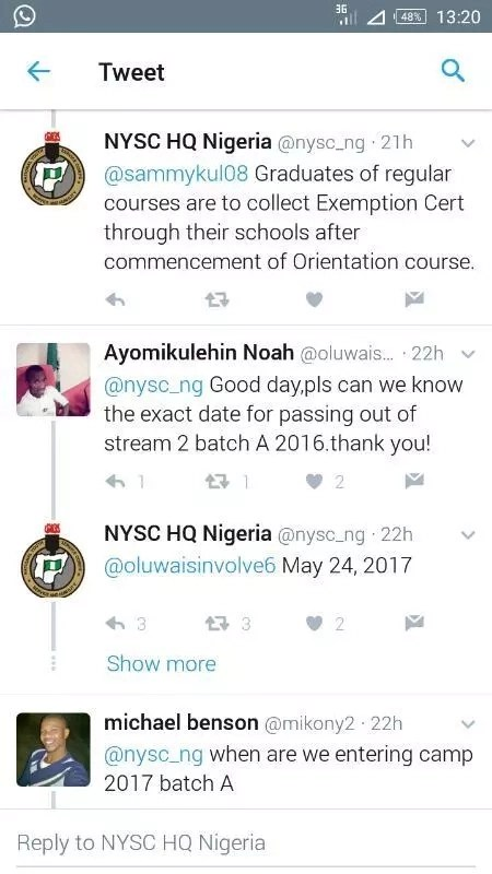 smngoz6q4v3in5pi6.0039e661 - Breaking News! NYSC 2016 Batch A Steam II Passing Out date Announced!