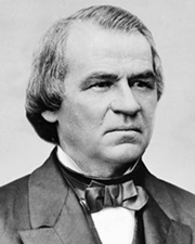 17th US President Andrew Johnson