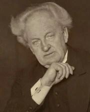 Author and Nobel Laureate Gerhart Hauptmann