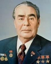Soviet General Secretary Leonid Brezhnev