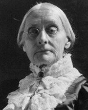 Suffragette Susan Brownell Anthony