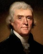 3rd US President Thomas Jefferson