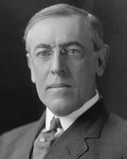 28th US President Woodrow Wilson